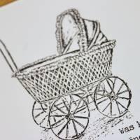 """Glückwunschkarte zur Geburt """"Vintage"""" aus der Manufaktur Karla Bild 5"""