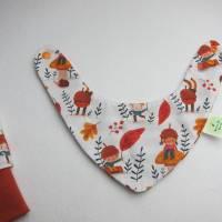 Herbst Baby Set Öko-Pumphose, Wendehalstuch Wichtel im Herbstlaub Gr. 68 Bild 4