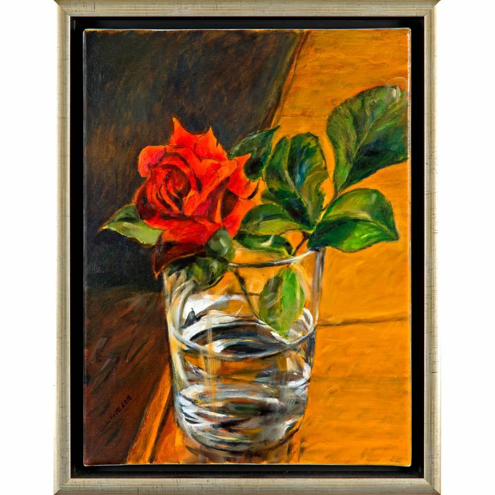 Ein schönes Geschenk - Ölmalerei, Unikat Bild 1