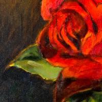 Ein schönes Geschenk - Ölmalerei, Unikat Bild 3