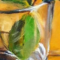 Ein schönes Geschenk - Ölmalerei, Unikat Bild 6