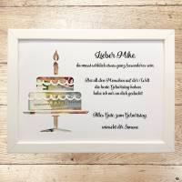 Geldgeschenk zum Geburtstag personalisiert Torte  Bild 1