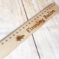 Lineal mit Wunschgravur, 30 cm, personalisiert, Geschenk für die Einschulung / Schulanfang Bild 2
