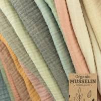 Organic-Musselin-Melange-Tommy-100 % Bio Baumwolle-50cm Schritte-Meterware Bild 1