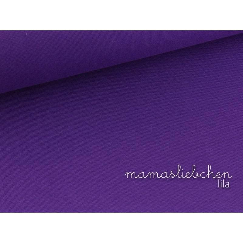Bündchen-Stoff Bündchenstoff uni lila violett 0,25 Bild 1