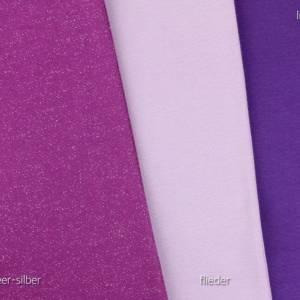 Bündchen-Stoff Bündchenstoff uni lila violett 0,25 Bild 2