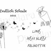 Malkoffer (64 Teile) für Kinder - endlich Schule - Wunschgravur, persönliches Geschenk | Last Minute Geschenke Bild 7