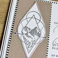 """Grußkarte, Karte zum Abschied """"Dein Weg"""" aus der Manufaktur Karla Bild 6"""