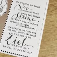"""Grußkarte, Karte zum Abschied """"Dein Weg"""" aus der Manufaktur Karla Bild 7"""