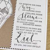 """Grußkarte, Karte zum Abschied """"Dein Weg"""" aus der Manufaktur Karla Bild 8"""