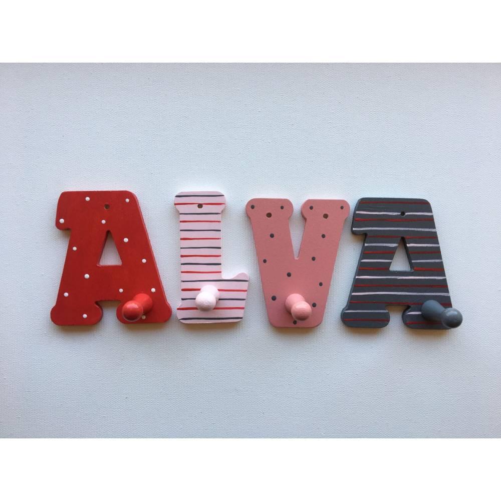 Buchstabengarderobe Kleiderhaken Garderobenhaken Kinderzimmer  Bild 1