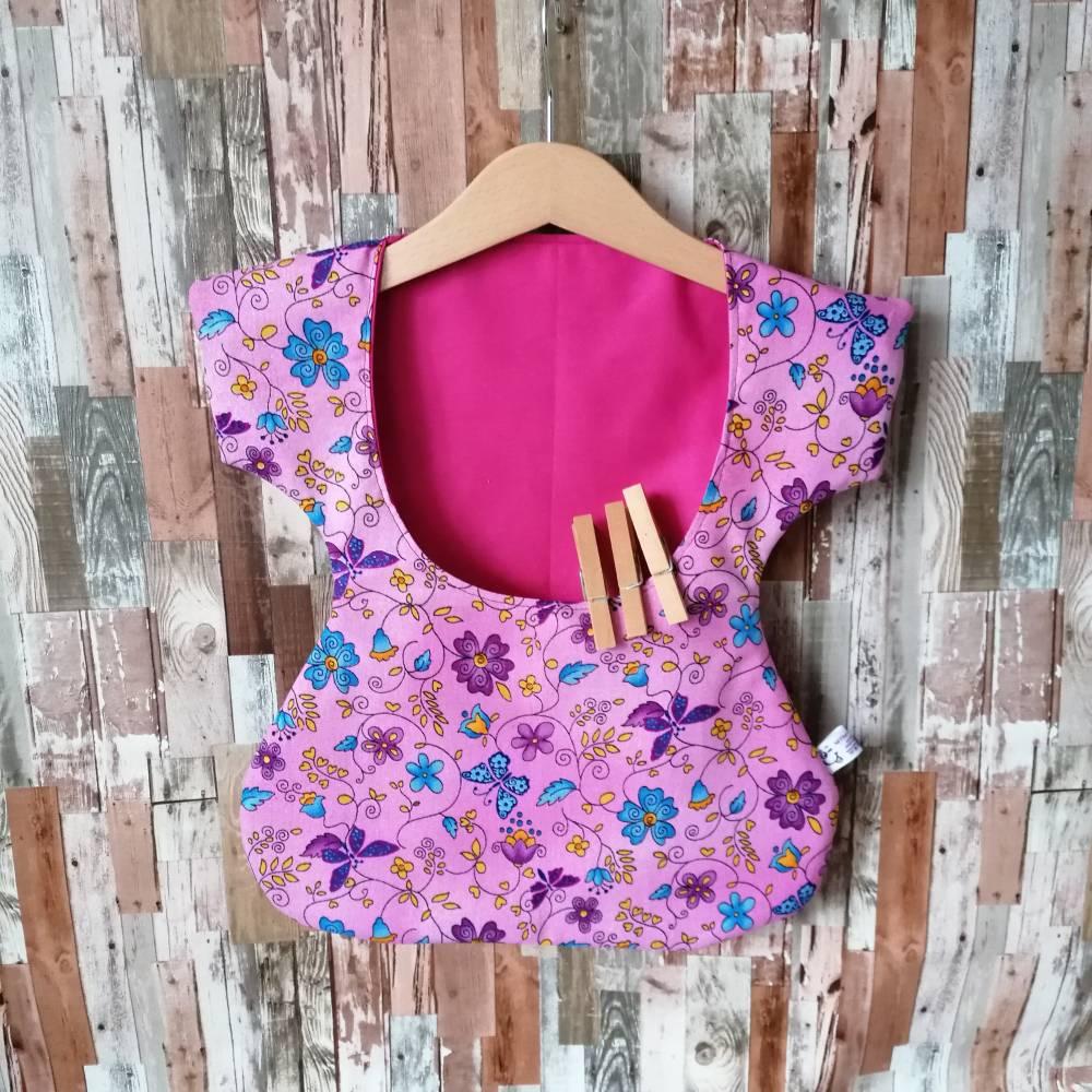 """Wäscheklammerkleidchen, Klammerkleidchen, Klammerbeutel, """"Flora Pink""""  Bild 1"""