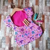 """Wäscheklammerkleidchen, Klammerkleidchen, Klammerbeutel, """"Flora Pink""""  Bild 2"""