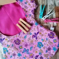 """Wäscheklammerkleidchen, Klammerkleidchen, Klammerbeutel, """"Flora Pink""""  Bild 4"""