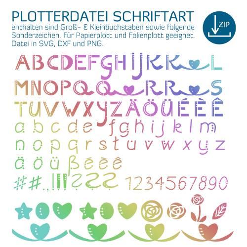 Plotterdatei Schriftart optimiert für den Papierplott, auch für Folienplott, Plott-Datei als svg, dxf von senSEASONal