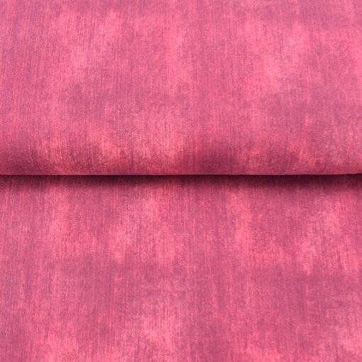 Jeans Baumwolll-Jersey-Stoff uni rot ausgewasche Jeansfarbe Öko-Tex Standard 100 - Meterware EU Stoffe Jeansoptik Bild 1