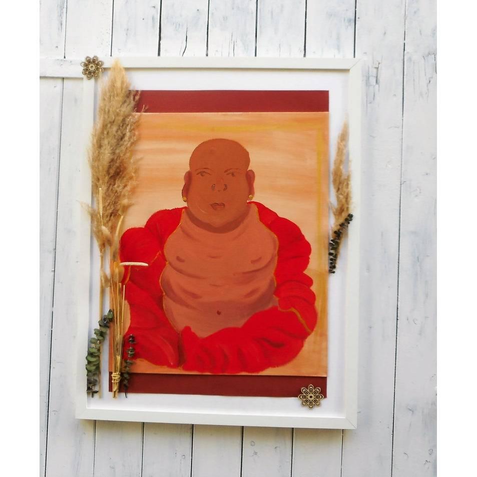 Wand Bild, Buddha, handgemalt, Wanddekoration Bild 1