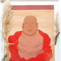 Wand Bild, Buddha, handgemalt, Wanddekoration Bild 4