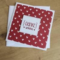 """Grußkarte Dankeskarte  """"Herziges Dankeschön"""" aus der Manufaktur Karla Bild 8"""