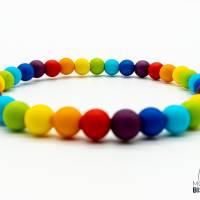 Regenbogen Perlen Armband Bild 2