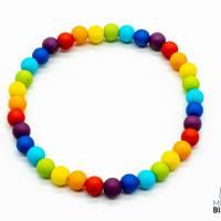 Regenbogen Perlen Armband Bild 3