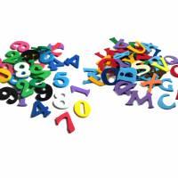 Moosgummi Zahlen und ABC Bild 1