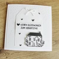 """Glückwunschkarte Geburtstagskarte """"Schwedenhäuschen"""" aus der Manufaktur Karla Bild 3"""