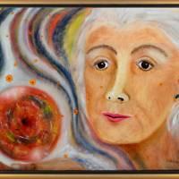 Die Coronazukunft deuten - Ölmalerei, Unikat Bild 1