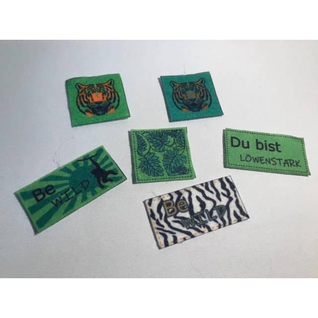 Motiv-Label Dschungel Label/Patches aus Filz weiß 6 Stk. Bild 1