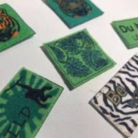 Motiv-Label Dschungel Label/Patches aus Filz weiß 6 Stk. Bild 2