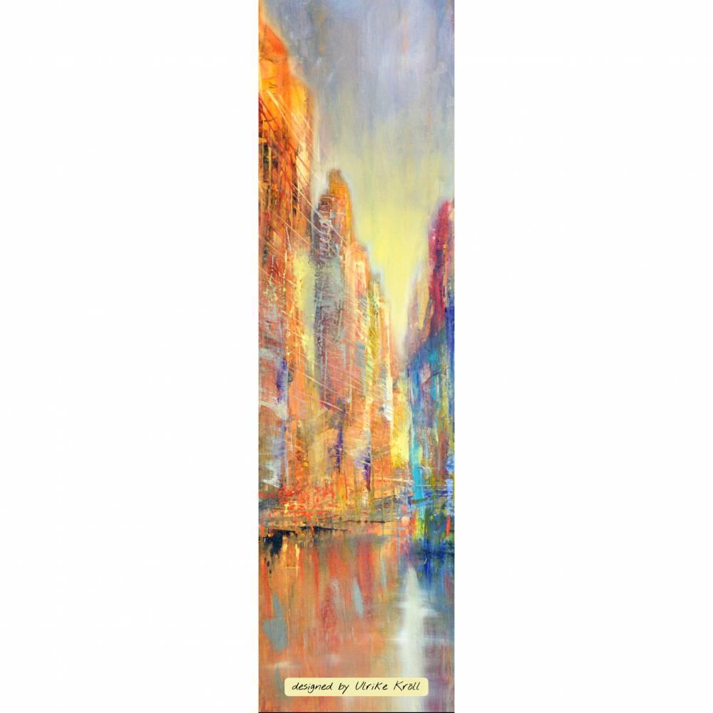 "Lesezeichen - ""Skyline am Fluss"" – Design  Ulrike Kröll Bild 1"