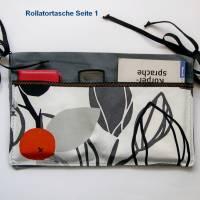 Rollatortasche, Rollstuhl Organizer, Stofftasche für Gehhilfe, Wandertasche Senioren, Walkertasche, Rollsltuhltasche Bild 1