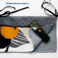 Rollatortasche, Rollstuhl Organizer, Stofftasche für Gehhilfe, Wandertasche Senioren, Walkertasche, Rollsltuhltasche Bild 2