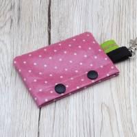 Hundekotbeutelspender aus Wachstuch, Kotbeutelspender, Schietbüddelspender, Hundetütentasche, Polka Dots, rosa Bild 6