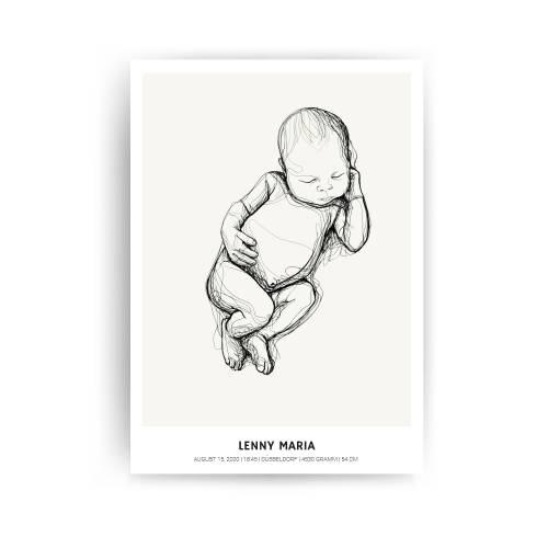 GEBURTSPOSTER - Neugeborenen Illustration, Geburtsgeschenk, Geburtsposter, Valentinstagsgeschenk, Kinderzimmer Deko, Bab