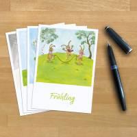 4x Postkarten-Set · Jahreszeiten · Frühling Sommer Herbst Winter · A6 · Aquarell · Buntstift · klimaneutraler Druck Bild 6