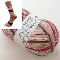 1 Knäuel 150 g weiche hochwertige Sockenwolle Weihnachtssocken Jaquardmuster Farbe 19.12.21 / Partie 948/2 Bild 2