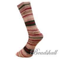 1 Knäuel 150 g weiche hochwertige Sockenwolle Weihnachtssocken Jaquardmuster Farbe 19.12.21 / Partie 948/2 Bild 3
