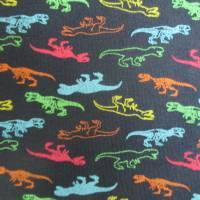 French Terry, Sweat angeraut kleine T-Rex - Dinosaurier, marine Oeko-Tex Standard 100(1m/17,-€)  Bild 5
