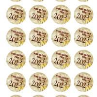 24 Sticker Etiketten Aufkleber, rund D= 4 cm, Viel Glück für 2022, Neujahr, Silvester Bild 2