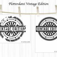 Plotterdatei Stempel Vintage Edition Bild 2