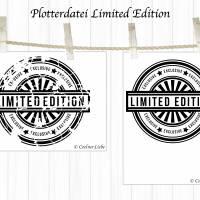 Plotterdatei Stempel Limited Edition Bild 2