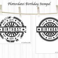 Plotterdatei Stempel Birthday Edition Bild 2