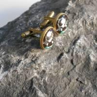 Bronze Vampir   Manschettenknöpfe  Rund Glas Cabochon verspielt Bild 2