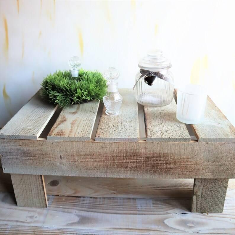 Holz Podest Landhausstil, groß Bild 1