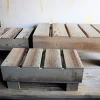 Holz Podest Landhausstil, groß Bild 2