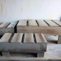 Holz Podest Landhausstil, groß Bild 3
