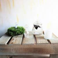 Holz Podest Landhausstil, groß Bild 4