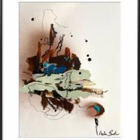 """""""Stadt mit Spiegelung"""" 24 x 32 cm Acrylbild auf Künstlerpapier Bild 1"""