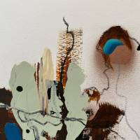 """""""Stadt mit Spiegelung"""" 24 x 32 cm Acrylbild auf Künstlerpapier Bild 4"""